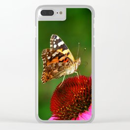 Butterfly macro 64 Clear iPhone Case