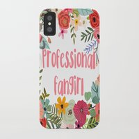 fangirl iPhone & iPod Cases featuring Professional Fangirl by Meleika