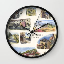 Italy - Art Print Wall Clock