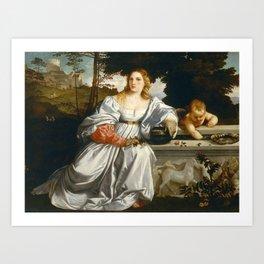 "Titian (Tiziano Vecelli) ""Sacred and Profane Love"" (1), 1515-1516 Art Print"