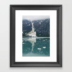 alaskan ice. Framed Art Print
