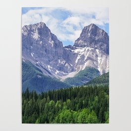 Three Sisters Mountain in Canmore, Alberta Canada Poster