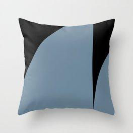 Bold Geometric Shapes - Blue Throw Pillow