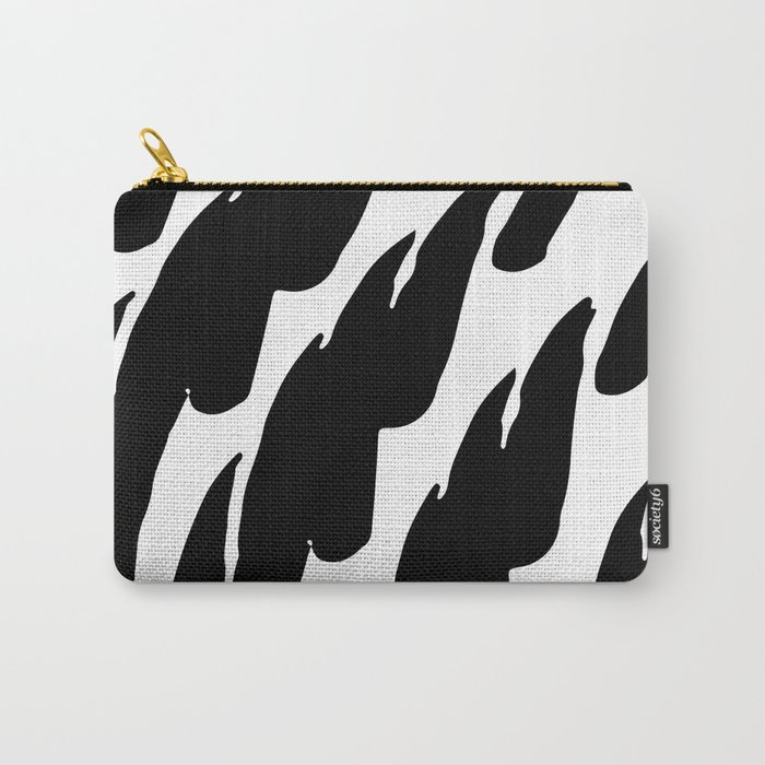 Black Abstract Brush Marks Carry-All Pouch