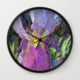 Impressionist Iris Wall Clock