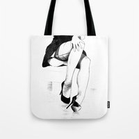 apollonia Tote Bags featuring asc 221 - La fausse candeur by From Apollonia with Love
