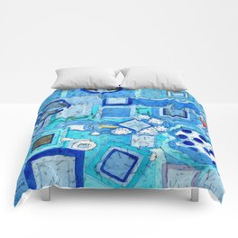 Blue Room with Blue Frames Comforters
