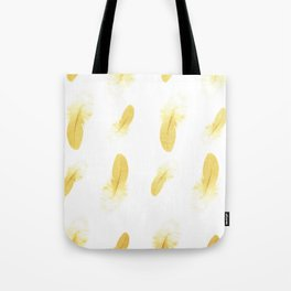 gold feather pattern Tote Bag