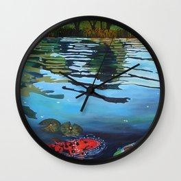 Shimmering Lake Wall Clock