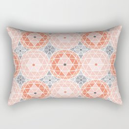 Geodome - Pink Rectangular Pillow