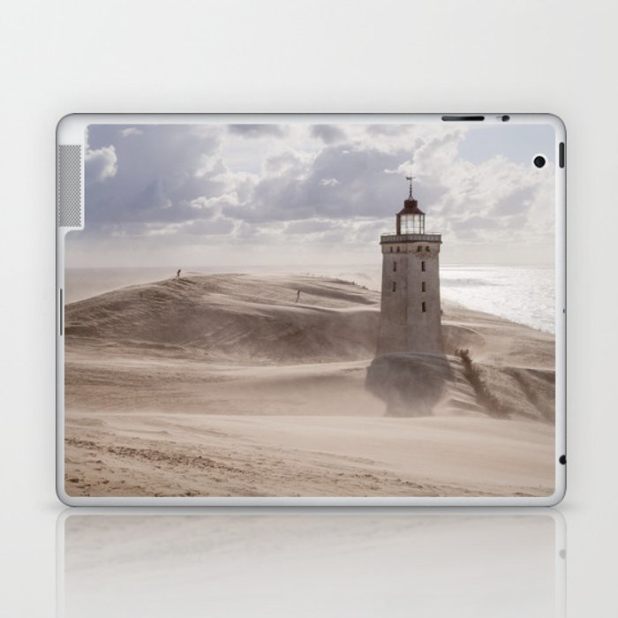 Sandstorm at the lighthouse Laptop & iPad Skin