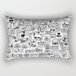 Ohio State Map Rectangular Pillow