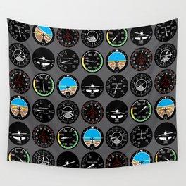 Flight Instruments Wall Tapestry