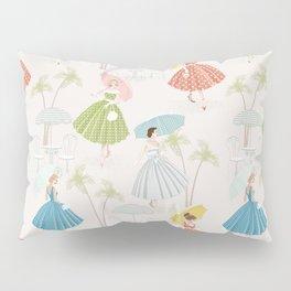 Women With Parasols Mid Century Summer Pillow Sham