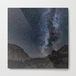 Perseid Over Sacagawea Peak Metal Print