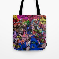 Little bitty bits of time floating freely in the mind Tote Bag