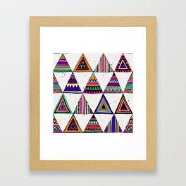 Boho Hand Drawn Triangle Pattern 1 Framed Art Print