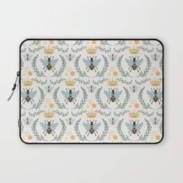 Queen Bee with Gold Crown and Laurel Frame Laptop Sleeve