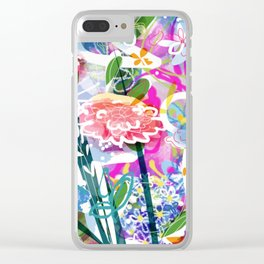 Powerfull flowers Clear iPhone Case