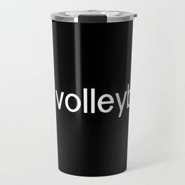 Volleyball (Purple) Travel Mug
