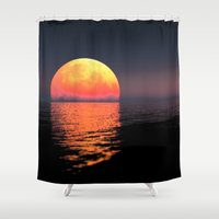 moonrise Shower Curtains featuring Moonrise by Tobias Bowman