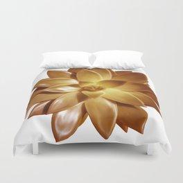 MINI GOLD SUCCULENT Duvet Cover