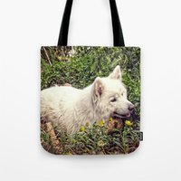 fairytale Tote Bags featuring Fairytale by MG-Studio