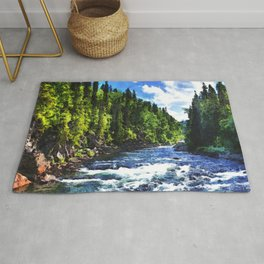 River In The Forest Rug