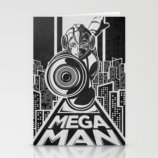 Megaman. In the year 20xx Stationery Cards