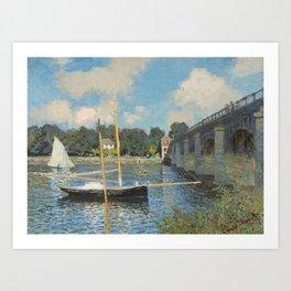 Claude Monet The Bridge at Argenteuil 1874 Painting Art Print