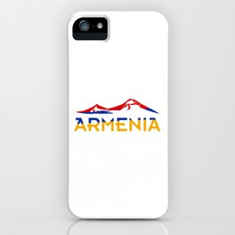 Armenia Ararat Hayastan flag #society6 #decor #buyart #artprint iPhone Case