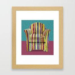 Last Chair Before Niagara Falls. Framed Art Print