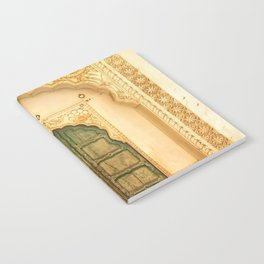 Intricate palace door in India Notebook
