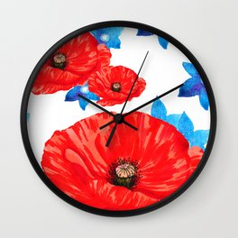 Floral Americana Wall Clock