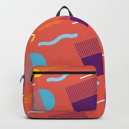 RETRO WARM TONE 80S GEOMETRIC PATTERN Backpack