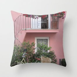 A Day in the Life - Capri, Italy Throw Pillow