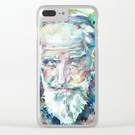 GEORGE BERNARD SHAW - watercolor portrait Clear iPhone Case