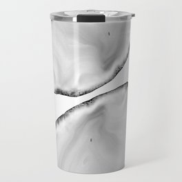 White Agate Neutral Glam #1 #gem #decor #art #society6 Travel Mug
