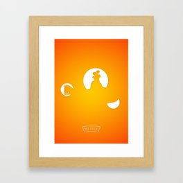 Y..... .......E Framed Art Print