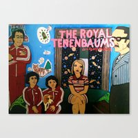 the royal tenenbaums Canvas Prints featuring Royal Tenenbaums by L. Chacon