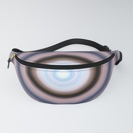 Salmon and Sky Swirl Fanny Pack