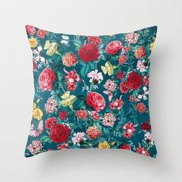 Floral BB Throw Pillow