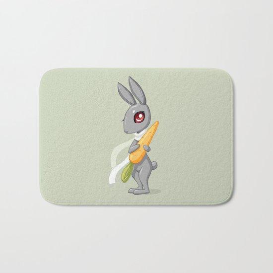 Bunny Carrot 3 Bath Mat