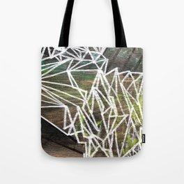 Geometric Lines on Wood Tote Bag