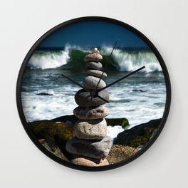 Parting the Waves Wall Clock