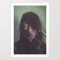 Ghost in Photograph Art Print