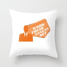 Accountants Work Their Assets Off Funny Accountant Cpa Graduate Bookkeeper Throw Pillow