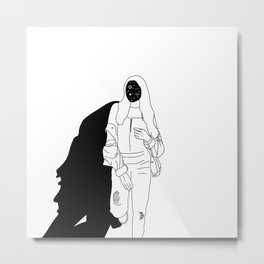 Space Facetime Metal Print