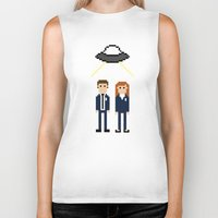 scully Biker Tanks featuring Mulder & Scully by Evelyn Gonzalez