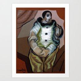 """Juan Gris """"Pierrot Aux Mains Jointes"""" Art Print"""